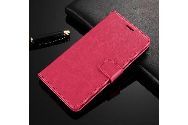 Чехол-книжка из качественной импортной кожи с мульти-подставкой застёжкой и визитницей для google pixel xl/htc google nexus marlin m1 розового цвета.