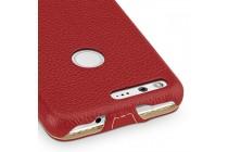 Вертикальный откидной чехол-флип для google pixel xl/htc google nexus marlin m1 красного цета из натуральной кожи prestige италия