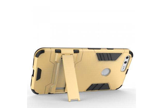 Противоударный усиленный ударопрочный чехол-бампер-пенал для  google pixel xl/htc google nexus marlin m1 золотого цвета