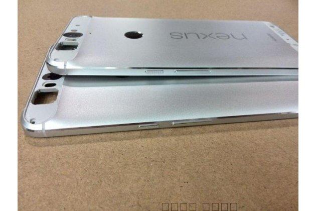 Родная оригинальная задняя крышка-панель которая шла в комплекте для huawei google nexus 6p серебристая