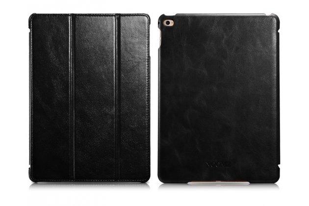 """Премиальный чехол бизнес класса для ipad air 2 с визитницей из качественной импортной кожи """"ретро"""" черный"""