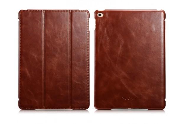 """Премиальный чехол бизнес класса для ipad air 2 с визитницей из качественной импортной кожи """"ретро"""" коричневый"""