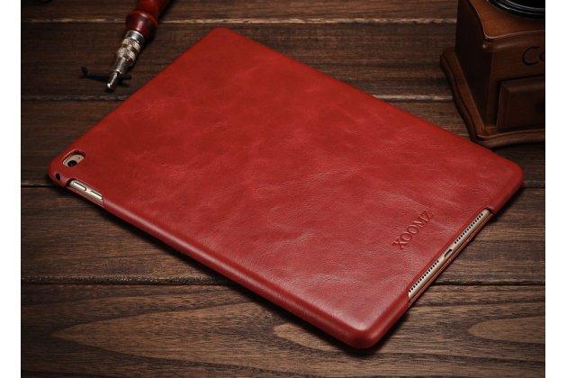 """Премиальный чехол бизнес класса для ipad air 2 с визитницей из качественной импортной кожи """"ретро"""" красный"""