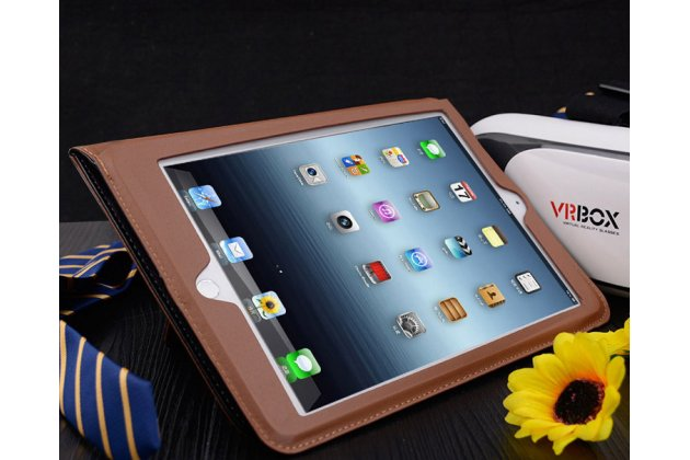 Премиальный чехол бизнес класса для ipad air 2 с визитницей из качественной импортной кожи черный