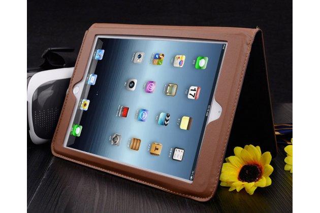 Премиальный чехол бизнес класса для ipad air 2 с визитницей из качественной импортной кожи красный