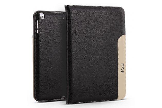 Чехол-обложка для ipad air 2 с визитницей и держателем для руки из качественной импортной кожи черный