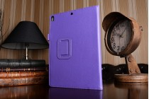 Чехол бизнес класса для ipad pro 10.5 с визитницей и держателем для руки фиолетовый натуральная кожа prestige италия