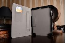 Чехол бизнес класса для ipad pro 10.5 с визитницей и держателем для руки черный натуральная кожа prestige италия