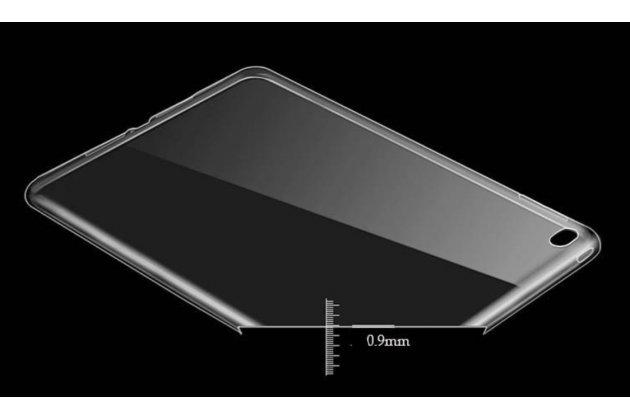 Ультра-тонкая полимерная задняя панель-чехол-накладка из силикона для ipad pro 12.9 полупрозрачная чернвя