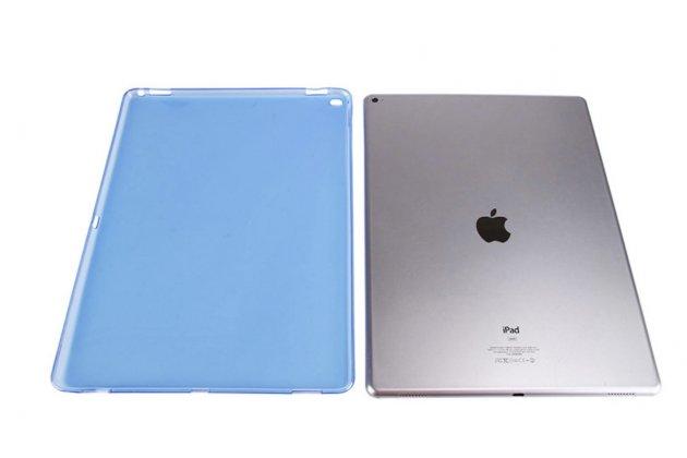 Ультра-тонкая полимерная задняя панель-чехол-накладка из силикона для ipad pro 12.9 прозрачная синяя