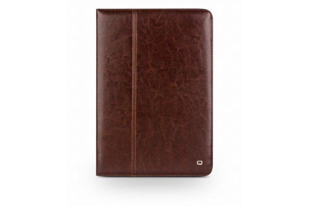 Умный качественный элитный премиальный чехол бизнес класса для планшета ipad pro 12.9 из качественной импортной кожи коричневый