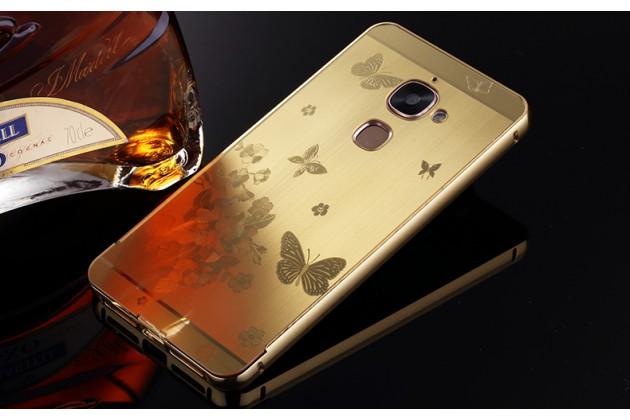 Металлическая задняя панель-крышка-накладка из тончайшего облегченного авиационного алюминия для leeco (letv) le s3 ecophone 5.5 (x622 / x626) с объёмным 3d рисунком тематика бабочки