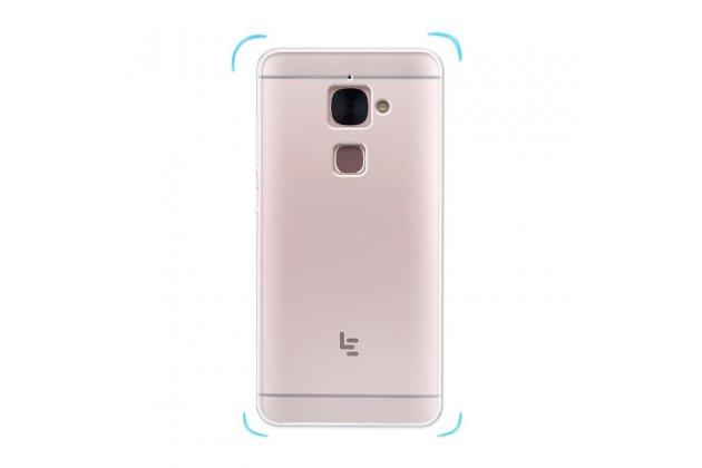 Ультра-тонкая полимерная из мягкого качественного силикона задняя панель-чехол-накладка для leeco (letv) le s3 ecophone 5.5 (x622 / x626) прозрачная