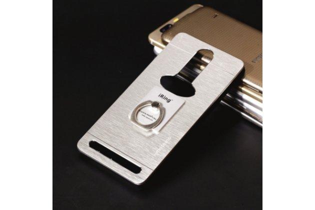 """Металлическая задняя панель-крышка-накладка из тончайшего облегченного авиационного алюминия для lenovo k5 note (k52t38 / k52e78) 5.5"""" серебристая"""