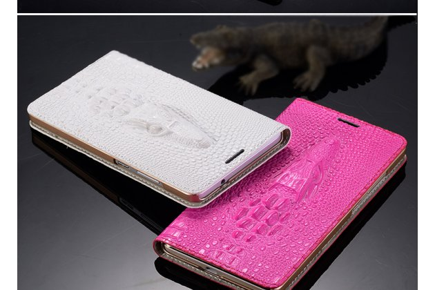 """Роскошный эксклюзивный чехол с объёмным 3d изображением кожи крокодила розовый для lenovo k5 note (k52t38 / k52e78) 5.5"""". только в нашем магазине. количество ограничено"""