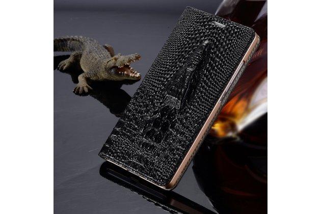 """Роскошный эксклюзивный чехол с объёмным 3d изображением рельефа кожи крокодила черный для  lenovo k5 note (k52t38 / k52e78) 5.5"""". только в нашем магазине. количество ограничено"""