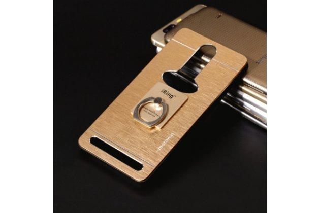 """Металлическая задняя панель-крышка-накладка из тончайшего облегченного авиационного алюминия для lenovo k5 note (k52t38 / k52e78) 5.5"""" золотая"""