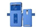 """Фирменный чехол-книжка для Lenovo K5 Note (K52t38 / K52e78) 5.5""""  синий с окошком для входящих вызовов и свайпом водоотталкивающий"""