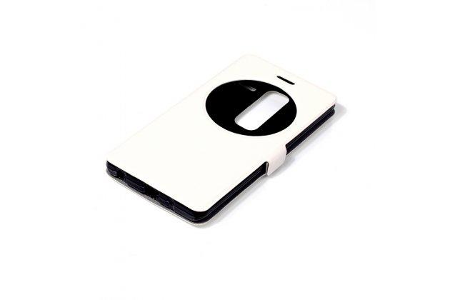 Чехол-книжка для lg class белый с окошком для входящих вызовов водоотталкивающий