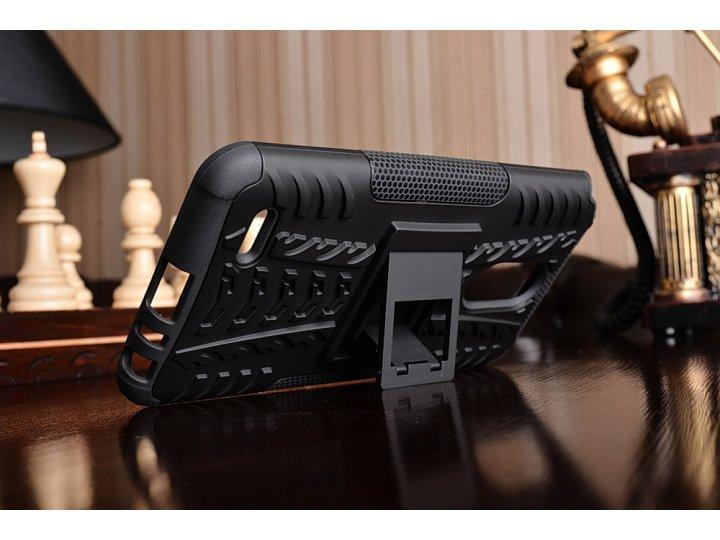 Противоударный усиленный ударопрочный чехол-бампер-пенал для lg stylus 3 m400dy 5.7 черный..