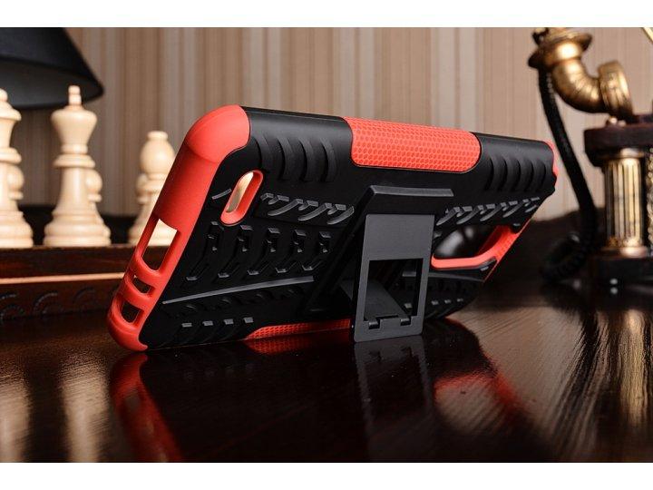 Противоударный усиленный ударопрочный чехол-бампер-пенал для lg stylus 3 m400dy 5.7 красный..