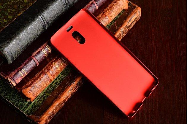 Задняя панель-крышка из прочного пластика с матовым противоскользящим покрытием для meizu m6 note в красном цвете