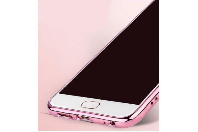 """Роскошная задняя панель-чехол-накладка из мягкого узорчатого силикона с 3d рисунком на meizu m6 note c безумно красивым держателем """"сердце"""" розовая"""