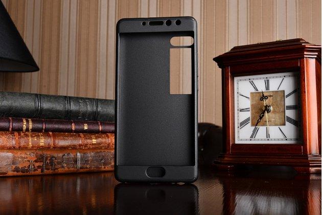 Уникальный чехол-бампер-панель с полной защитой дисплея и телефона по всем краям и углам для meizu pro 7 plus черный