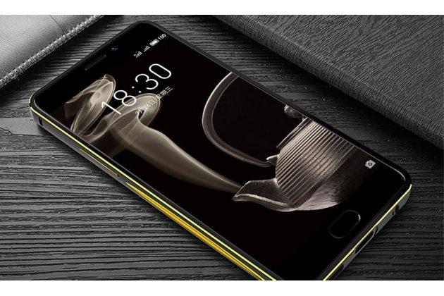 """Металлическая задняя панель-крышка-накладка из тончайшего облегченного авиационного алюминия для meizu pro 7 plus """"тематика дракон"""" черная"""