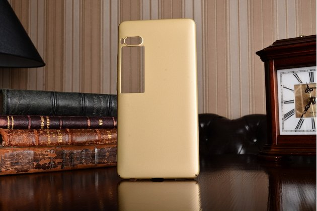 Задняя панель-крышка-накладка из тончайшего и прочного силикона для meizu pro 7 plus золотая