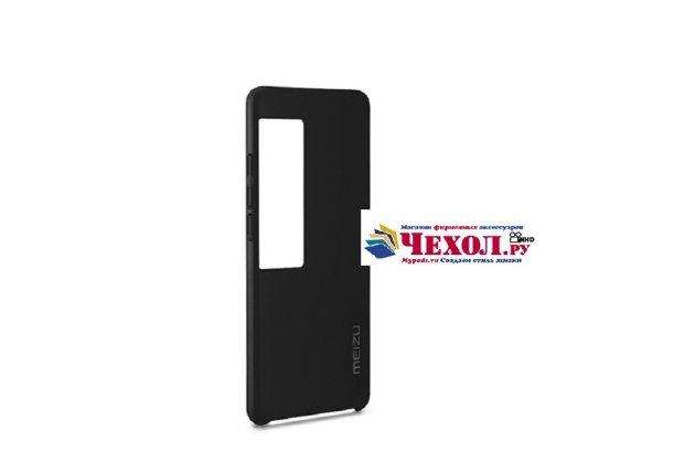 Задняя панель-крышка-накладка с логотипом  из тончайшего и прочного пластика для meizu pro 7 plus черная