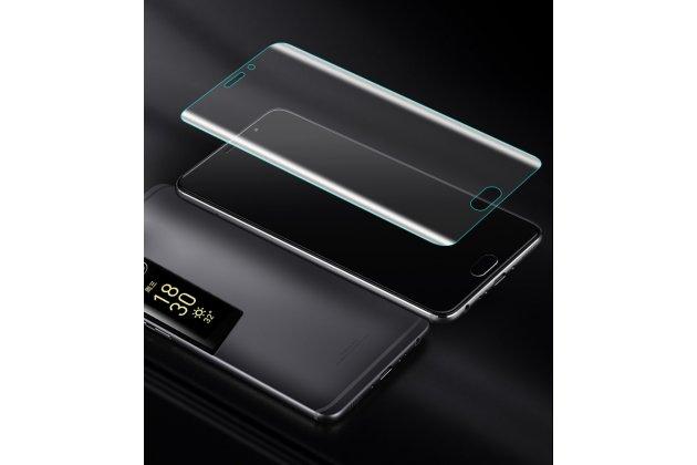 3d защитная пленка с закругленными краями которое полностью закрывает экран для телефона meizu pro 7 plus глянцевая