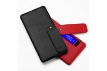 Фирменная премиальная элитная крышка-накладка из тончайшего прочного пластика и качественной импортной кожи  для Meizu Pro 7 Plus  черная