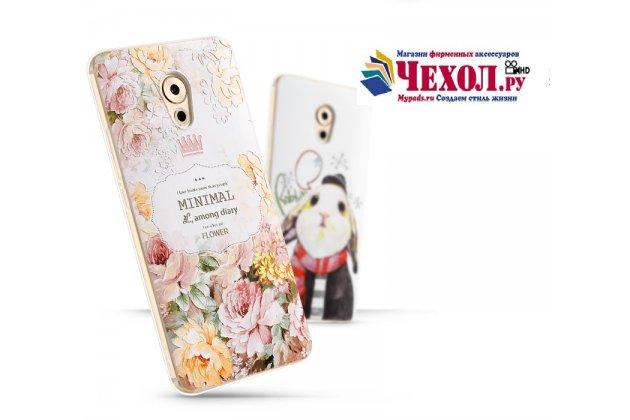 Роскошная задняя панель-чехол-накладка  из мягкого силикона с безумно красивым расписным 3d рисунком на meizu pro 7 plus тематика королевские розы