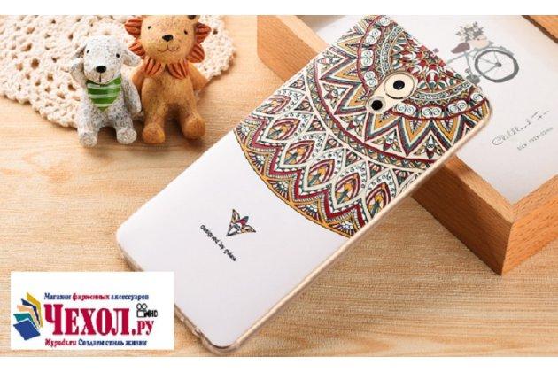 Роскошная задняя панель-чехол-накладка с безумно красивым расписным рисунком на meizu pro 7 plus тематика стильные узоры