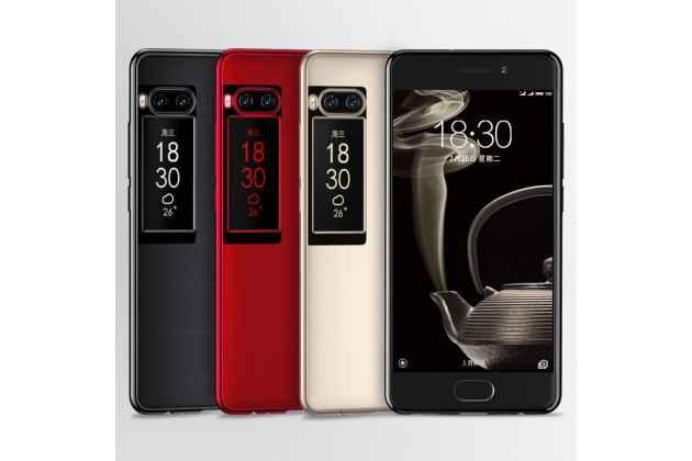 Ультра-тонкая полимерная из мягкого качественного силикона задняя панель-чехол-накладка для meizu pro 7 plus красная