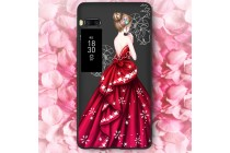 Фирменная уникальная задняя панель-крышка-накладка из тончайшего силикона для Meizu Pro 7 Plus с объёмным 3D рисунком тематика Красное платье