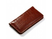 Фирменный эксклюзивный чехол-кошелек-портмоне с рельефом кожи крокодила для Motorola Moto G5 из качественной и..