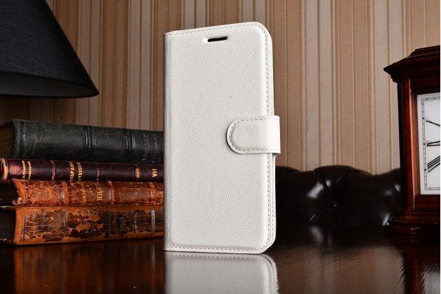 Чехол-книжка из качественной импортной кожи с подставкой застёжкой и визитницей для нокиа 3 белый