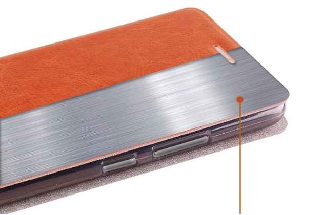 Чехол-книжка из качественной водоотталкивающей импортной кожи на жёсткой металлической основе для nokia 3 розовый