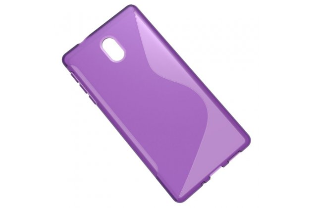 Ультра-тонкая полимерная из мягкого качественного силикона задняя панель-чехол-накладка для nokia 3 фиолетовая