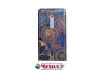 Фирменная роскошная задняя панель-чехол-накладка  из мягкого силикона с безумно красивым расписным 3D рисунком на Nokia 5 тематика Эклектические Узоры
