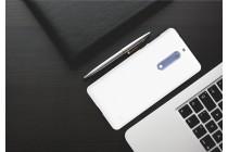 Фирменная задняя панель-крышка-накладка из тончайшего и прочного пластика для Nokia 5 белая