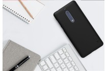 Фирменная задняя панель-крышка-накладка из тончайшего и прочного пластика для Nokia 5 черная