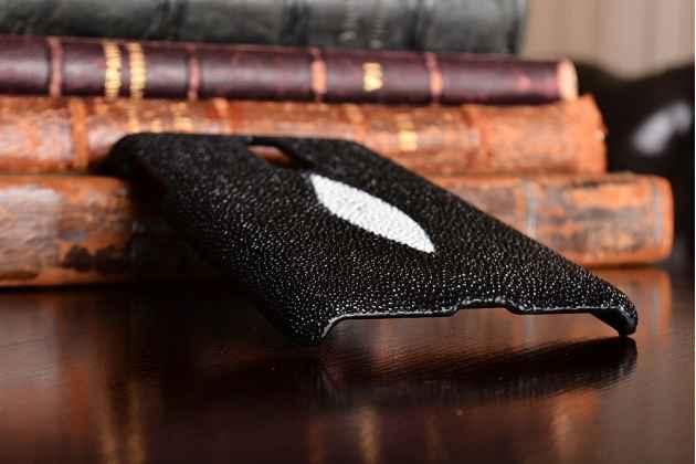 Роскошная эксклюзивная накладка  из натуральной рыбьей кожи ската (с жемчужным блеском) чёрный для nokia 8. только в нашем магазине. количество ограничено