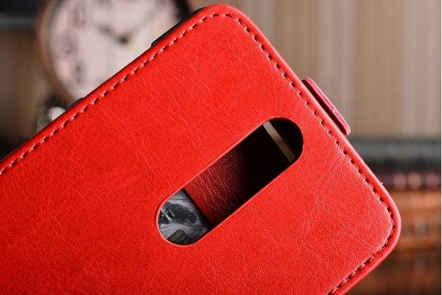 Вертикальный откидной чехол-флип для nokia 8 красный из натуральной кожи prestige италия