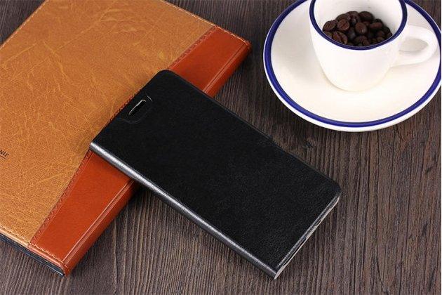 Чехол-книжка из качественной импортной кожи с мульти-подставкой и визитницей для nokia 8 черный