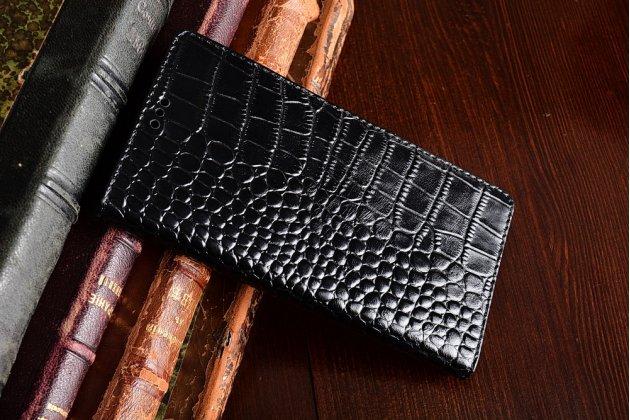 Роскошный эксклюзивный чехол с фактурной прошивкой рельефа кожи крокодила и визитницей черный для nokia 8. только в нашем магазине. количество ограничено