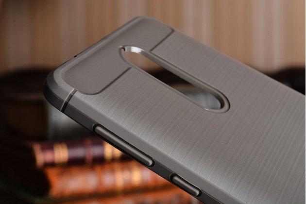 """Задняя панель-крышка из тончайшего мягкого силикона для nokia 8 с матовой отделкой """"под карбон"""" серая"""