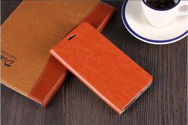Чехол-книжка из качественной импортной кожи с мульти-подставкой и визитницей для nokia 8 коричневый